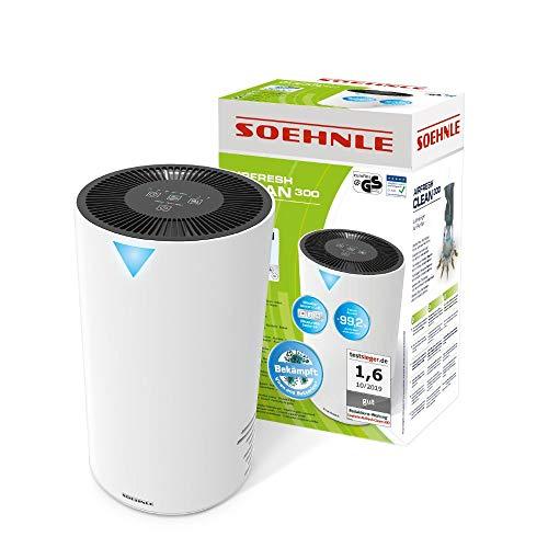 Soehnle Airfresh Clean 300 Luftreiniger mit 4-stufigem Reinigungssystem, Luftreiniger für effiziente Luftreinigung, Air Purifier ideal für Allergiker