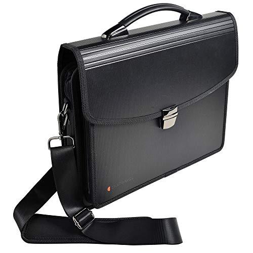 Exacompta 55734E tas Exatravel multifunctioneel van PP 2 mm, met opbergmap en laptopvak, DIN A4, 1 stuk, zwart