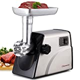 Sunmile SM-G33 Electric Meat Grinder - 1HP 800W Max Power - ETL Stainless Steel Meat Grinder Mincer Sausage Stuffer - Stainless Steel Blade and Plates, 1 Sausage Maker