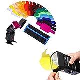 20Pcs Filtros de Colores Transparentes, Filtro de Gel de Corrección, Filtro de...