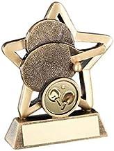 "4.25"" Brons Gouden Tafeltennis Mini Stertrofee GRATIS GRAJVEN RF449A"