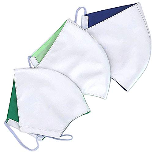 3er Pack waschbar bis 90°C | Unisex weiß | wiederverwendbar und kochbar 2-lagig aus Bio-Baumwolle
