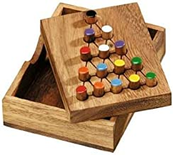 Last Fighter Jump Peg IQ Puzzle Game Wooden Solitaire Brain Teaser