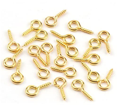 HLLMX 200 tornillos de ojo de plata son adecuados para manualidades, pendientes, colgantes y otros proyectos de producción de manualidades