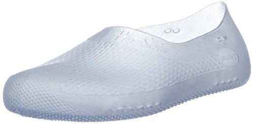 Fashy® Erwachsene Unisex Badeschuhe, Schwimmschuhe in 2 Farben erhältlich - Wassersport- TÜV geprüft und CE-Kennzeichnung - (Made In Germany) Weiß-Transparent 44/45 EU