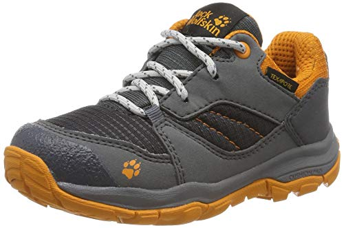 Jack Wolfskin Unisex Kinder MTN Attack 3 XT Texapore Low K Walking-Schuh, Grau Ebony Orange 6243, 28 EU