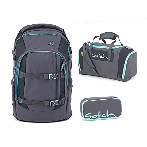 Satch Pack Mint Phantom 3er Set Schulrucksack, Sporttasche & Schlamperbox