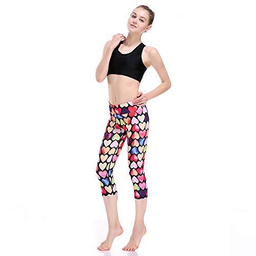 Adelina Capribroek, dames, modieus patroon, leggings, hartje, taille, elastische slim fit, modieuze completi, stretch, vrije tijd, joggingbroek, broek