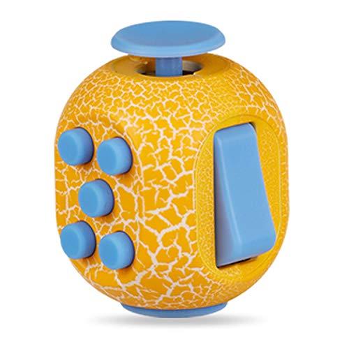 FXL Q Huevo descompresión Rubik'S Cube Toy, Camuflaje Descompresión Rubik'S Cube Pantalla Descompresión Rubik'S Cube Niño Adulto Descompresión artefacto (Rojo, Negro, Amarillo, Azul),Yellow