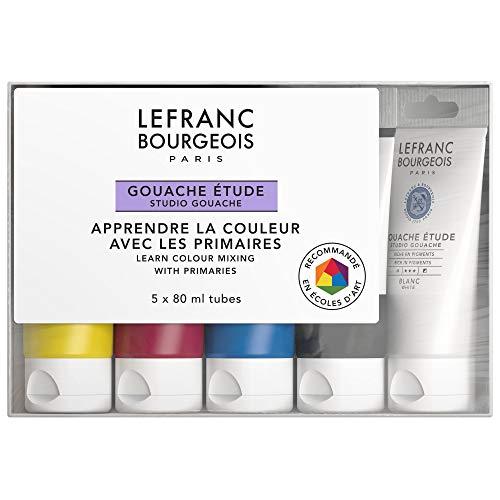 Lefranc Bourgeois Gouache Etude Set Etudiant 5 x 80 ml 301241