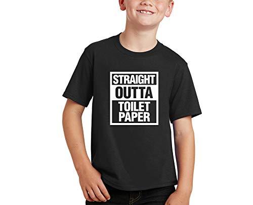 MLA Prints Straight Outta Tolilet Paper Fight Coronavirus COVID-19 tee Kids Youth