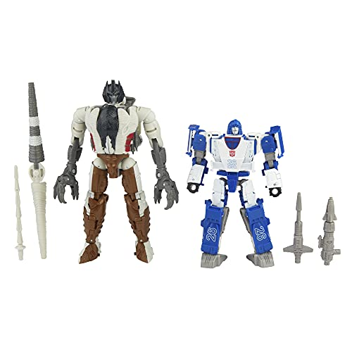 Transformers Toys Generations Kingdom Battle Across Time Collection Deluxe WFC-K40 Autobot Mirage & Maximal Grimlock, Age 8 and Up, 5.5-inch (Amazon Exclusive)
