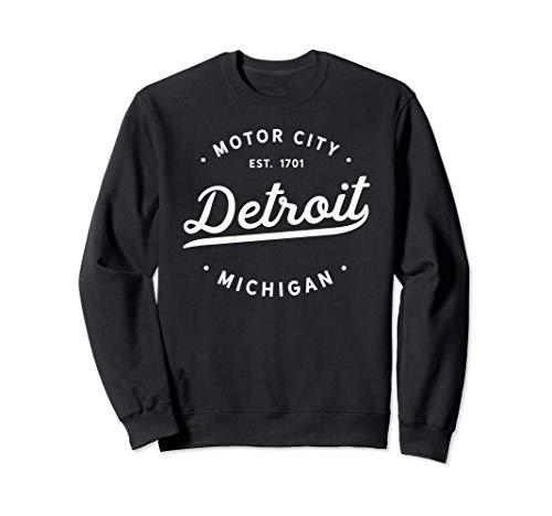 Classic Retro Vintage Detroit Michigan Motor City Sudadera