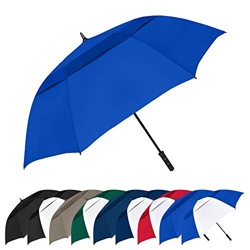 STROMBERGBRAND UMBRELLAS The Vented Tornado 64' Windproof Waterproof PGA Professional Quality Ultimate Portable Golfers Auto Open Golf Umbrella for Men and Women, Royal Blue, One Size