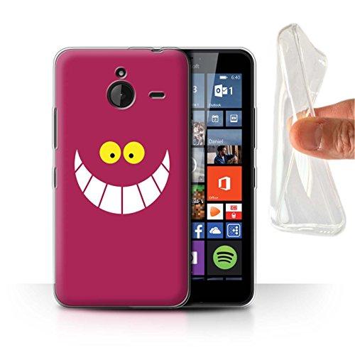 Hülle Für Microsoft Lumia 640 XL Fantasie-Wunderland-Kunst Cheshire-Katze/Lächeln Design Transparent Dünn Weich Silikon Gel/TPU Schutz Handyhülle Case