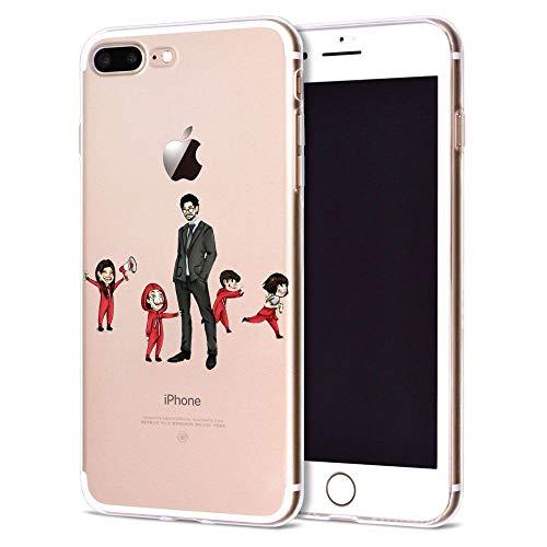 Giorno TV La CAS De Papel Funda iPhone Silicone Case Phone Cover S08 For Funda iPhone 7 Plus (Funda iPhone 8 Plus)