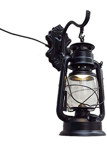 Lámpara De Pared Simple Y Fresca Interruptor industrial de estilo vintage de vendimia Shade Line Switch Linterna Lámpara habitación Restaurante Bedroom Aisle Metal Lámparas de pared que se pueden usar