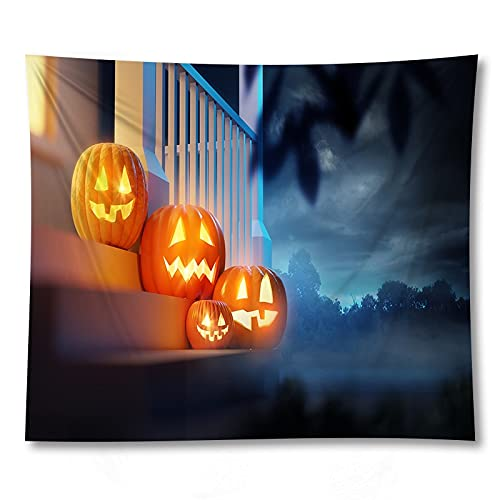 PPOU Calabaza de Halloween Creativo Tapiz Colgante de Pared Tela de decoración decoración de la Pared del hogar Tapiz de Tela de Fondo A14 150x200cm