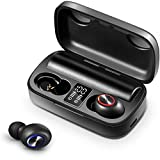 True Wireless Earbuds, Torteco A18 Bluetooth 5.0 TWS Earphones 2500mAh Charging Case, in-Ear Headphones with Bulit-in Mic 104H Playtime Deep Bass Stereo Sound IPX6 Waterproof for Sports