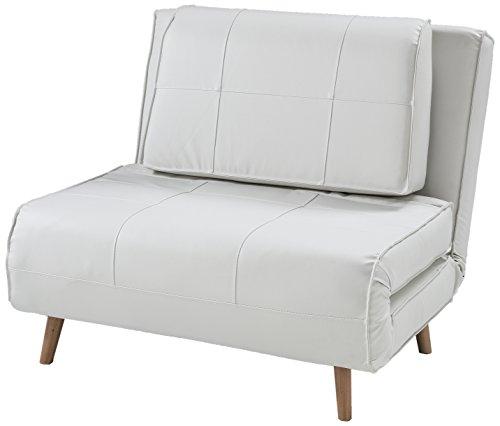 Wink design, Westminster, Poltrona Letto, pelle sintetica, Bianco
