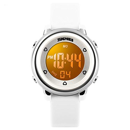 SKMEI Kid's Boys Girls Lovely Digital Led Back Light Watches Week Alarm...