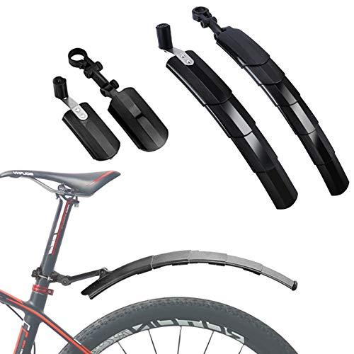 Garde-Boue de Vélo, Garde-Boue Ensemble de Vélo de Montagne Rétractable Vélo de vélo Pneu Garde-Boue Avant / Arrière