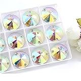 Mezclar formas Mejor calidad Resina Costura Cristal de diamantes de imitación AB Coser en piedras Strass para accesorios de ropa Zapatos-16mm-30pcs