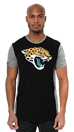 Ultra Game NFL Jacksonville Jaguars Mens T-Shirt Raglan Block Short Sleeve Tee Shirt, Team Color, Large