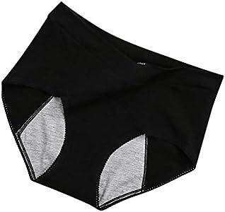 Amaeen Bragas Mujer de Período Menstrual a Prueba de Fugas Baratas Ropa Interior de Señoras Pantalones Cortos de Cintura Fisiológica de Moda