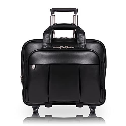 McKleinUSA Damen Wheeled Detachable Briefcase, Blk, 18