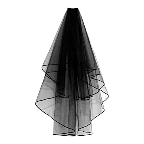 Amosfun Velo de Novia Velo Nupcial Disfraz de Novia de Boda Accesorios de Despedida de Soltera para Mujer