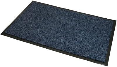 JVL Heavy Duty Slip Resistant Barrier Door Floor Mat, Vinyl, Blue/Black, 60 x 150 cm