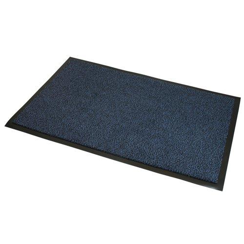 JVL–Resistente Antideslizante Barrera Puerta Suelo Mat–80x 140cm, Color Azul/Negro