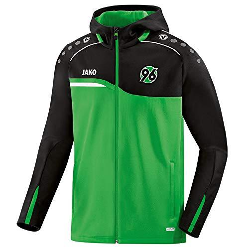 JAKO Fußball Hannover 96 Kapuzenjacke Competition 2.0 Herren Jacke grün schwarz Gr M