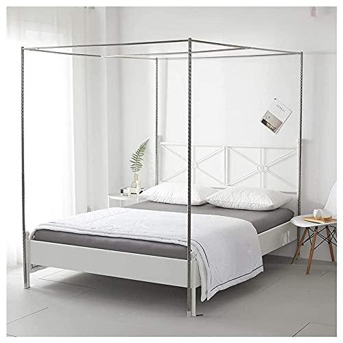 Mosquitera de acero inoxidable para cuatro tartas, marco para cama doble, doble, doble, queen, king size, California King-25 mm (1,8 × 2 m)