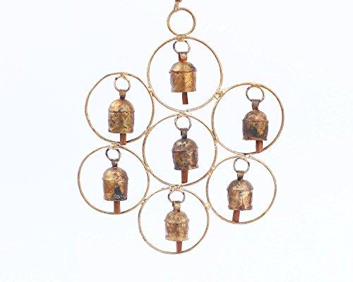 De Kulture Works Pure Bell Metal Circular Wind Chime for Hanging Bells (Brown)
