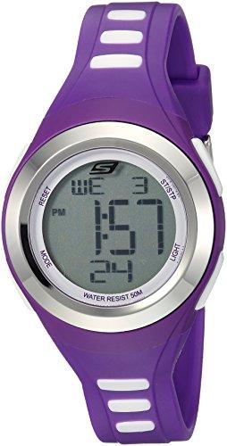 Skechers Women's SR2017 Digital Display Quartz Purple Watch