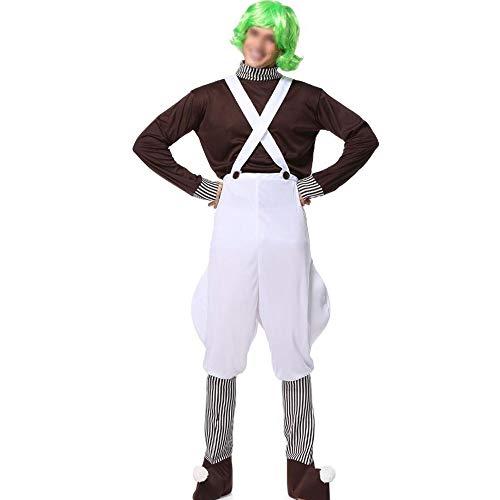 Cosplay novedoso Novela de la serie de Cosplay de las señoras del traje de Halloween del traje de Charlie y la serie de rendimiento del payaso de chocolate fábrica de chocolate Pequeño cospaly Disfraz
