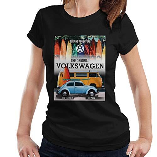 Volkswagen Surfing Adventure Beetle & Camper Women's T-Shirt