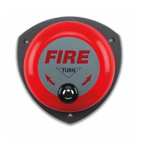 Feueralarm, Handglocke, rotierend A2Z Fire 2-Kg-Pulverfeuerlöscher und Löschdecke