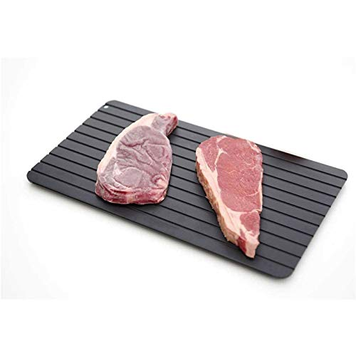 Alluminio Vassoi Di Scongelamento, Bistecca Surgelata Piastra Scongelamento Rapido Carne Surgelata, Senza Prodotti Chimici, Nessun Forno A Microonde, Rettangolo,29.5 * 20.5 * 0.2cm