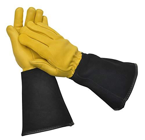 WAGNER Gold Leaf Gloves - TOUGH TOUCH - Damen - Gartenhandschuhe / Rosenhandschuhe der Extraklasse / Hirschleder und Rindsleder / stachelresistente Stulpe / RHS Auszeichung - 25305100