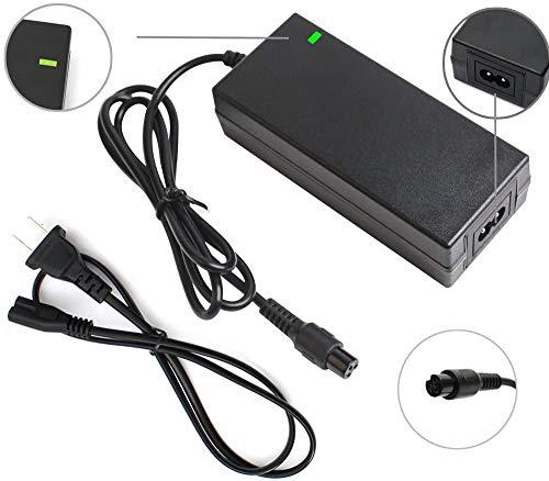 XYLUCKY 29.4V 2A Ladegerät, Lithium Strom AdapterPower Schnelle 3-Prong Inline-Anschluss für 24V-Taschen-Mod, Sport Mod-Lithium-Batterie