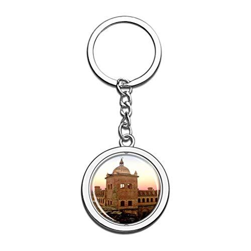 Llavero de palacio Mayoralgo de España con diseño de Cáceres, recuerdo de cristal, cadena de acero inoxidable, regalo de viaje de ciudad