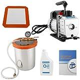 8MILELAKE 3 Gallon Vacuum Chamber and 3 CFM Pump Kit Set for Degassing