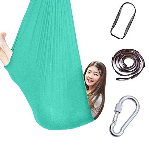 Indoor Therapy Swing for Kids Child and Teens - Hanging Seat Hammock for Indoor Outdoor Use Hardware Included Hammock Accessories, A Calming Effect on Children with Sensory Needs (E)