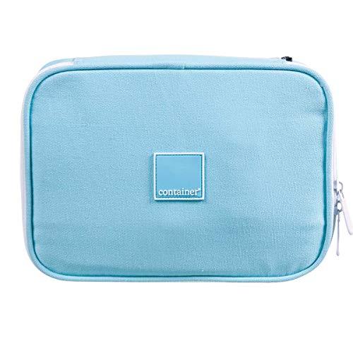 Estojo Soft Luxo Container Colors Luxo Light Blue Dermiwil, Azul Claro