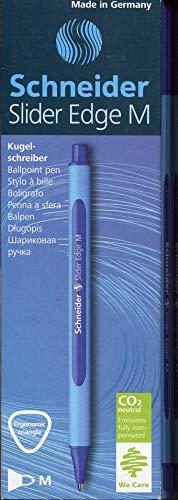 Schneider Slider Edge M Kugelschreiber (Strichstärke: M, dokumentenecht, Dreikant-Stift) 10er Packung blau