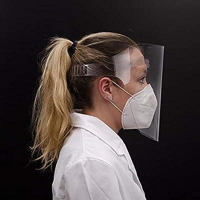 FÁCIL LIMPIEZA: Nuestras máscaras faciales son fácil limpieza y desinfección, con agua jabonosa o con una solución de lejía diluida al 2 % ALTA PROTECCIÓN Y COMODIDAD: Máscara facial protectora ultracómoda con almohadilla sobre la frente, ligera con ...