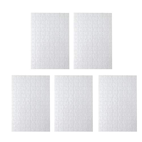 Toyvian Puzzle blanco A4 blanco para proyectos artísticos, color en bricolaje, 120 unidades cada una, 5 paquetes